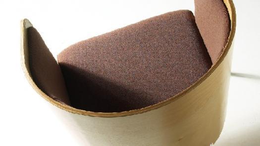 """Inspiral - Latte"" tub chair - David Grimshaw"
