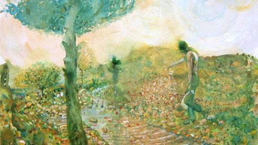 Unimagined Landscape (Piero after), watercolour, 2006 - John Hyatt
