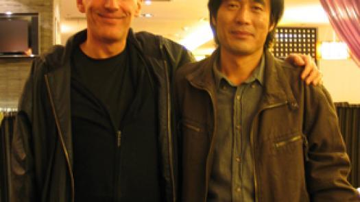 With Prof. Zhang Art College of Xiamen University - John Hyatt