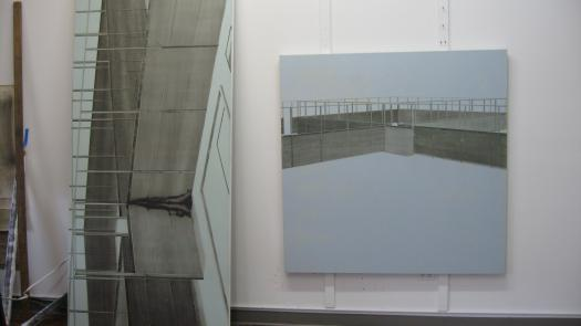 Gilad Efrat's studio in New York (with paintings of 'Ansar', 2007 - Simon Faulkner