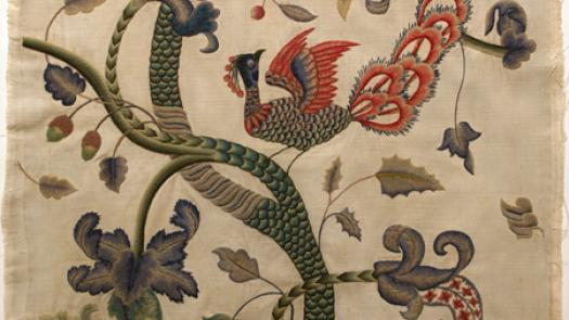 Crewel embroidery on cotton canvas, late 1940s - Philip A Sykas
