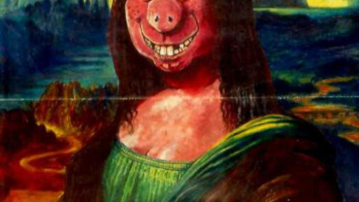 Oink! Mona Lisow poster