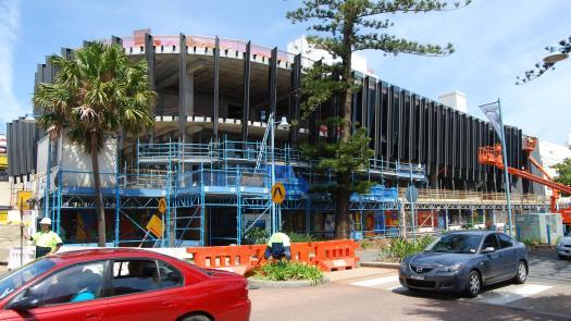 The Glasshouse under construction, Port Macquarie - Clive Parkinson