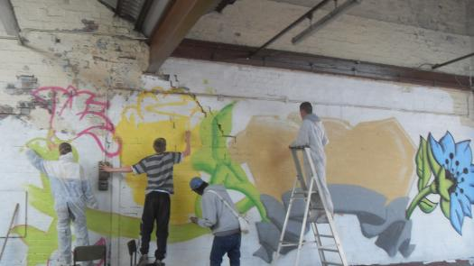 Graffiti*d: installation with Unity - CJ O'Neill