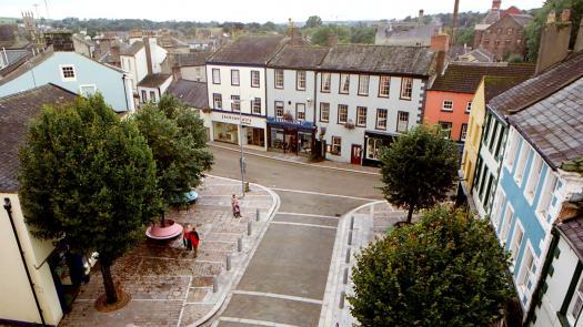 Cockermouth Market Place aerial - Becky Sobell