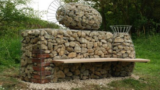 Haverholm Bench (Hub/Art NK, Lincolnshire)