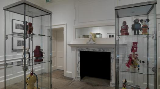 Installation view showing artefacts from the artist's collection - David Brittain