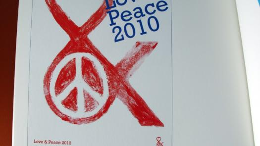 Love and peace poster design - Joe McCullagh