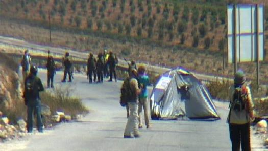Tent Protest, Nabi Saleh, West Bank, August 2011 (videostill from David Reeb) - Simon Faulkner