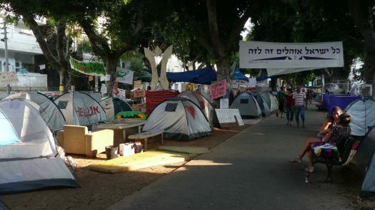 Tent Protest, Rothchild Boulevard, Tel Aviv, August, 2011 - Simon Faulkner
