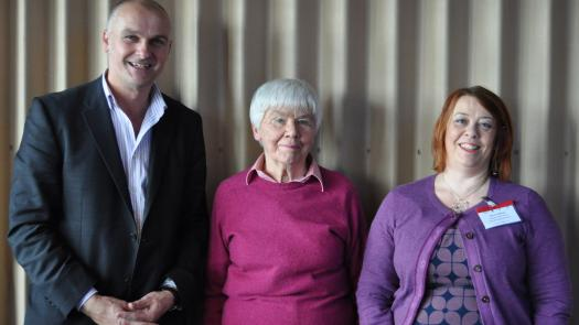 Dorothy Rowe and Anne Crabtree with Clive at the Un-Conference - Clive Parkinson