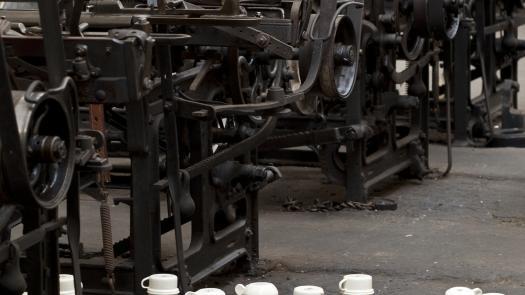 Clocking On (installation detail) - Stephen Dixon
