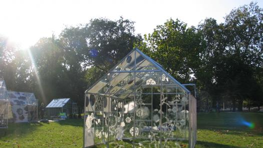 Etched Glass Greenhouse by Rachel Kelly - Rachel Kelly