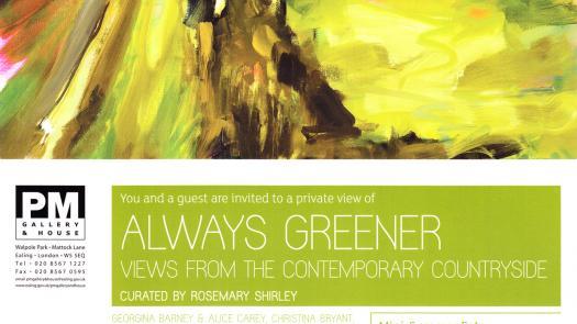 Always Greener Exhibition Invite - Rosemary Shirley