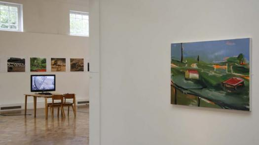 Installation view of Always Greener Exhibition at PM Gallery featuring work by Emily Cole - Rosemary Shirley