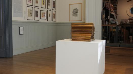 View of the installation showing the Paolozzi Studio (right) - David Brittain
