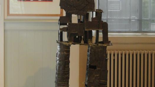 View of the exhibition showing the bronze, His Majesty the Wheel - David Brittain