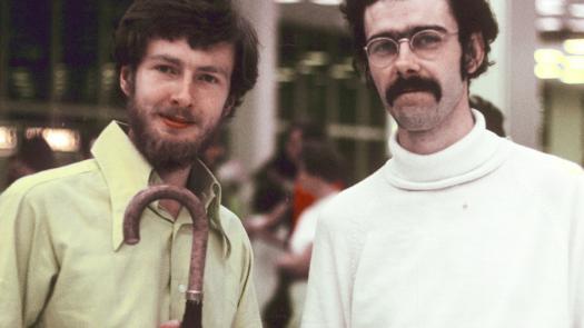Charles Platt (left) designed and edited New Worlds (1967-70) - David Brittain