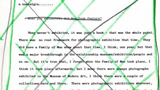 Hand altered transcript considered for artwork - David Brittain