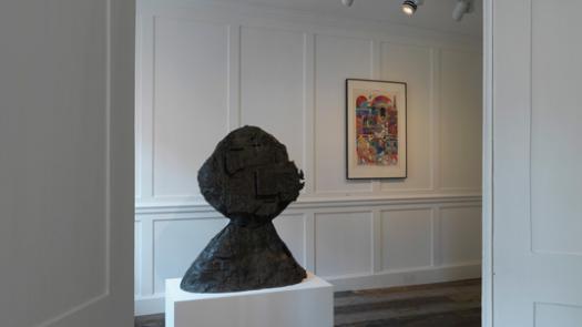 Eduardo Paolozzi sculpture in situ at Raven Row gallery - David Brittain
