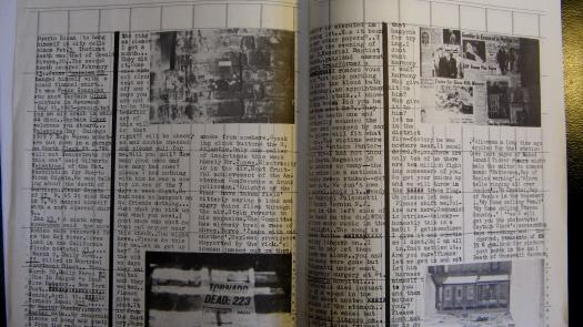 Detail of the 'Dead Star' manuscript by William S. Burroughs in My Own Mag, issue 13