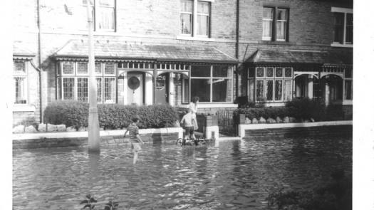 A young Parkinson exploring his flooded environs 1968 - Clive Parkinson