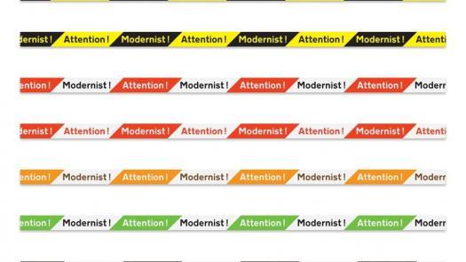 Attention Modernist Tape: Design Jonathan Hitchen - Sue Platt