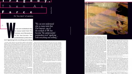Slavoj Zizek: Editorial spread for Flux Magazine 2009 ( Images Mack :  typography John Walsh MMU ) - Mark Manning