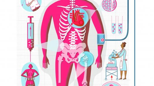Stem Cell Research / Fit for Life: Series of Health related Feature Illustrations for Saga Publications - Ian Whadcock