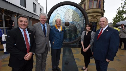 Keel square unveiling - Lucy Gannon