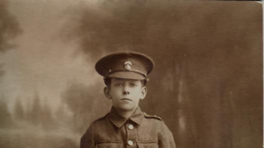 Postcard portrait of a boy soldier - Stephen Dixon