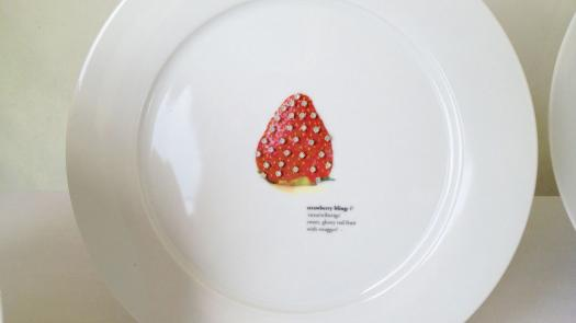 Strawberry Bling Plate