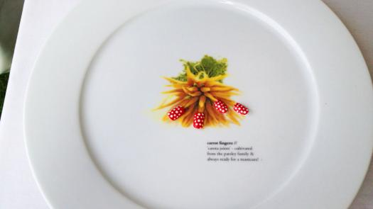 Carrot Fingers Plate - Liz Wheeldon-Wyatt