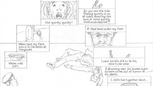 Proteus p. 69 pencil layout - Clinton Cahill