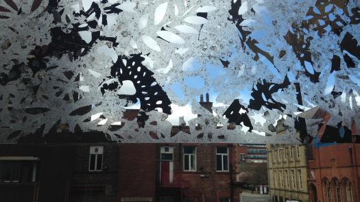 Vertical Gallery Mineral Window Decal  2016 - Rachel Kelly