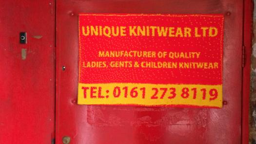 "Fait Accomplis - sign ""Unique Knitwear"""