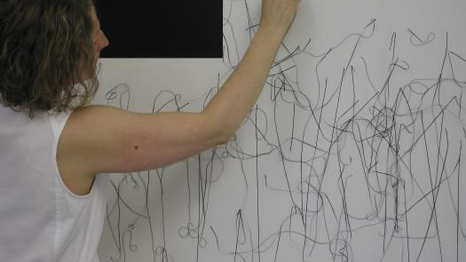 100 metre line drawing - performance at Five Years - Sally Morfill