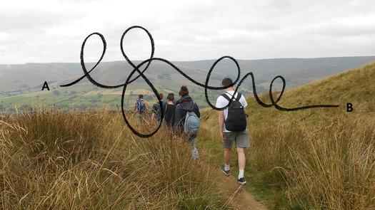Creative Landscapes student walk, 2014