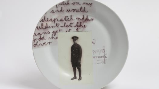 At Heart a Man (detail of individual plate) - Stephen Dixon