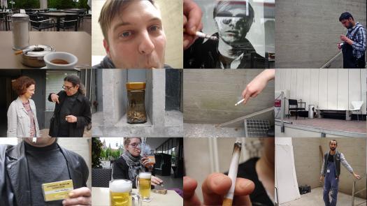 Work (All the cigarette breaks, Sprengel Museum, Hannover, June 2016) - Pavel Büchler