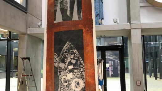 Bradford Pit Memorial Exhibition installation - Lucy Gannon
