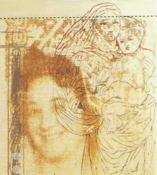Asylum project, printed tile (detail). 2001