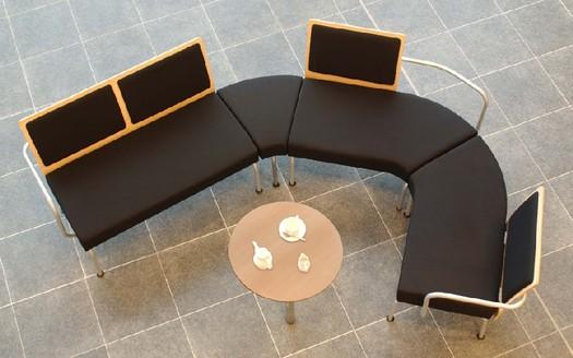"""Modular"" reception seating - ACF Office Seating"