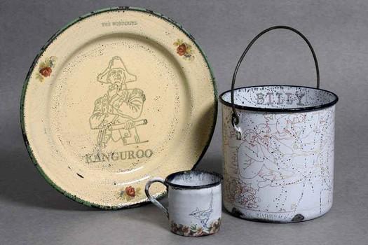 'Beyond the Seas'. Reworked tin-wares. 2006