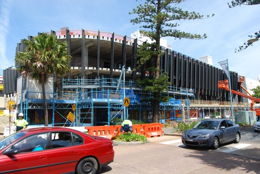 The Glasshouse under construction, Port Macquarie