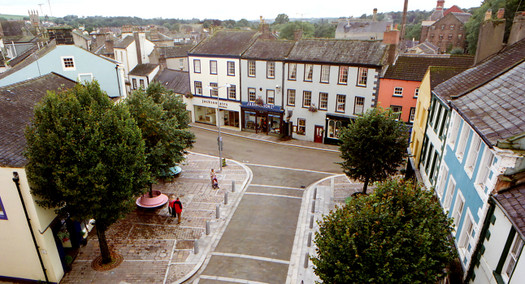 Cockermouth Market Place aerial