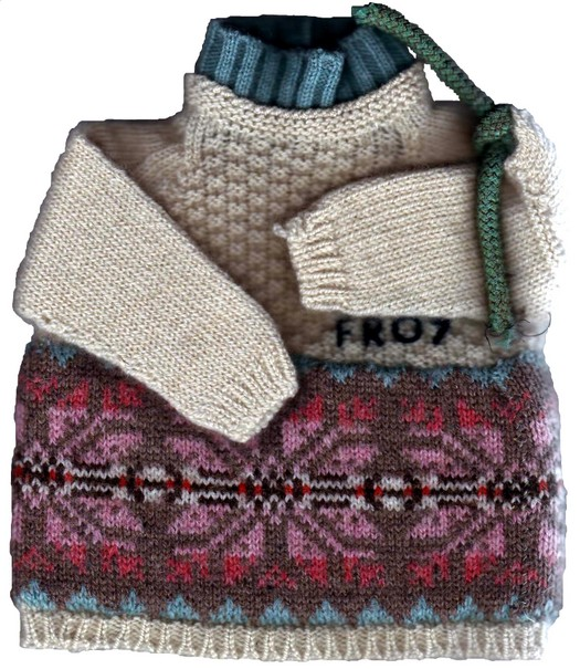 Grafted fairisle gansey