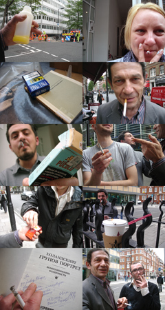 Work (All the cigarette breaks, The David Roberts Foundation, London, May 2010)