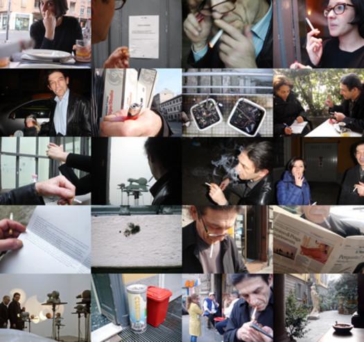 Work (All the cigarette breaks, Peep-Hole, Milan, February 2011)