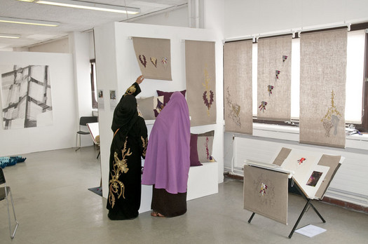 ESOL class visit degree shows